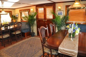 The Aft Parlor on our Yacht