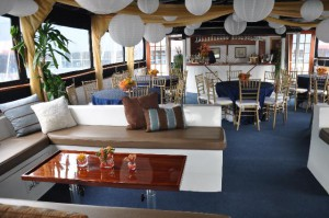 The Upper Dining Deck on Our New York Yacht