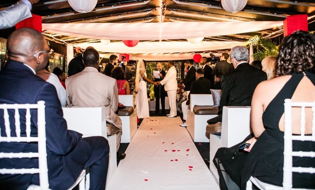 cruise wedding aisle