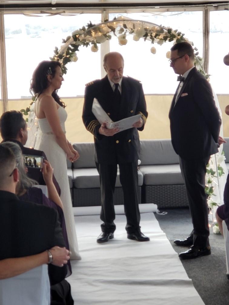 Wedding Ceremony Aboard Eastern Star Cruises on Long Island